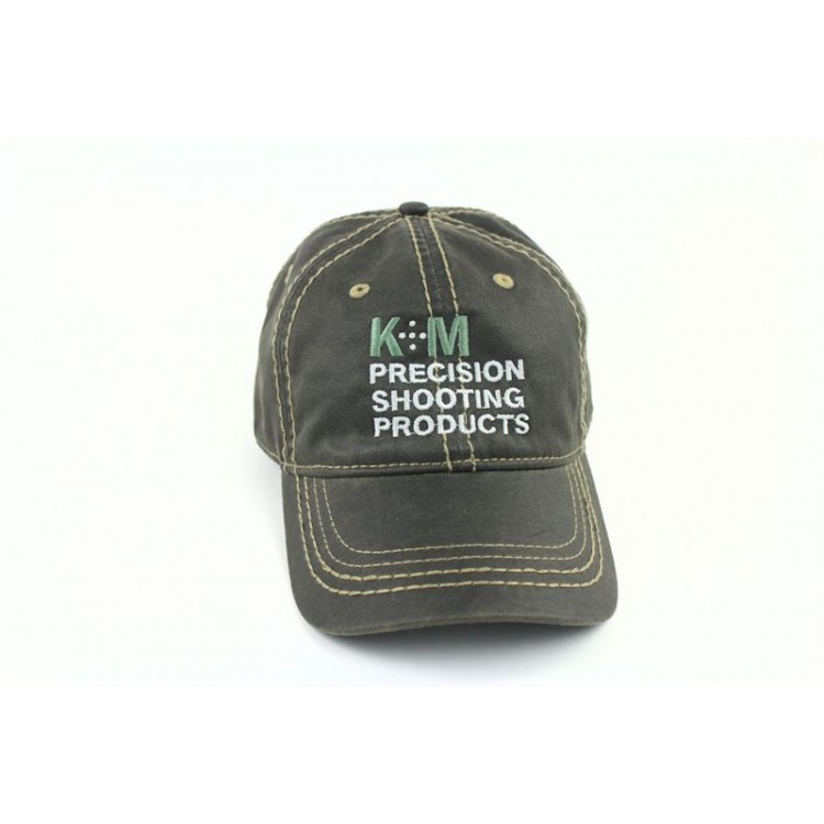 K&M Logo Hat - Black Oiled Leather Look