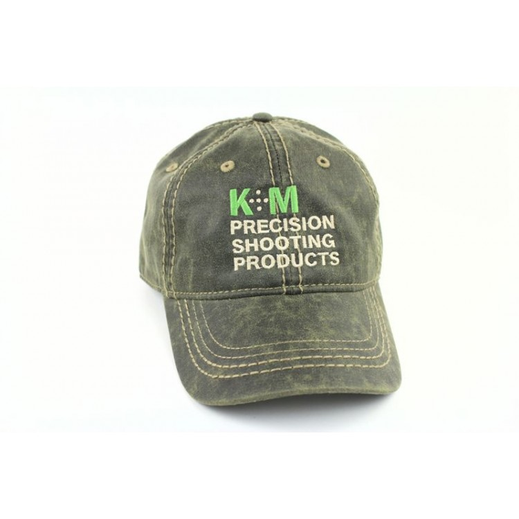 K&M Logo Hat - Oiled Leather Look - Olive