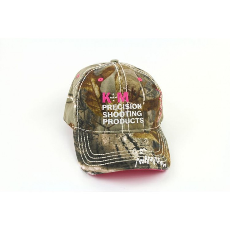 K&M Logo Hat - Washed Camo Twill with Pink Accents