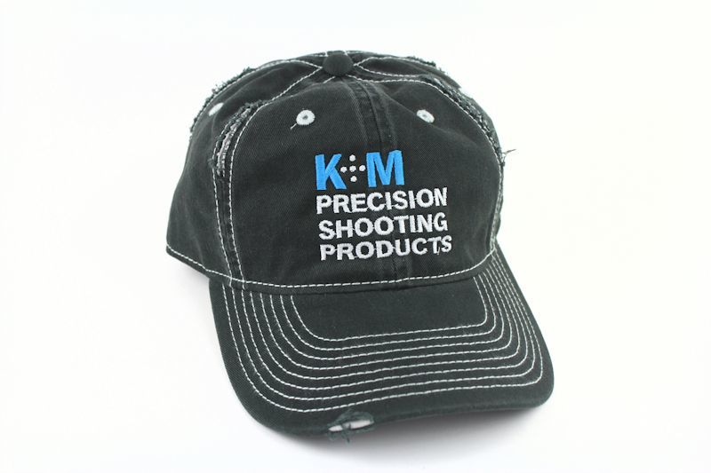 K&M Logo Hat - Black Distressed Look - 100% Cotton Twill -0