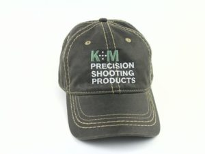 K&M Logo Hat - Black Oiled Leather Look-0