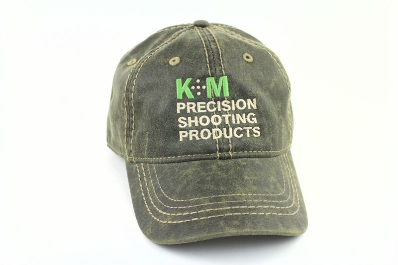 K&M Logo Hat - Oiled Leather Look - Olive-0