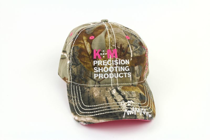 K&M Logo Hat - Washed Camo Twill with Pink Accents-0