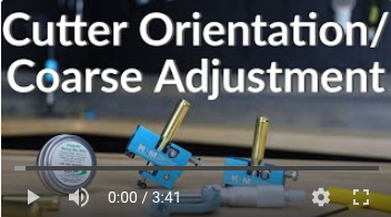 how to neck turner cutter orientation adjustment