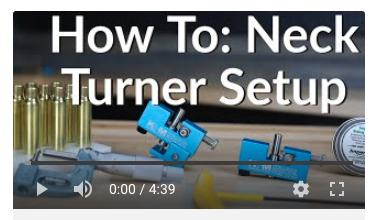 how to neck turner setup neck turning
