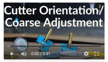 neck turner cutter orientation coarse adjustment