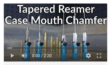 how to tapered reamer case mouth chamfer correction tool case neck chamfering
