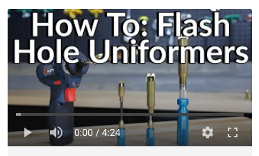 how to flash hole uniformer correction precision reloading